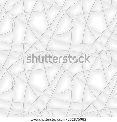 Seamless vector pattern. Abstract background with chaotic gray threads - stock vector