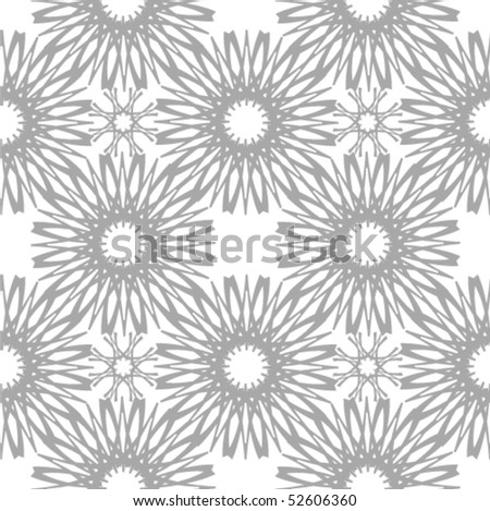 Seamless vector pattern. Abstract flower background.