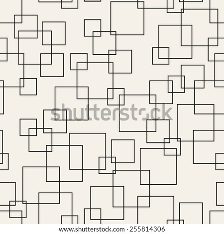 Seamless vector pattern. Abstract geometric background. Linear grid structure from rectangles