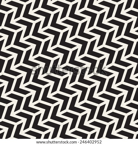 Seamless vector pattern. Abstract geometric background. Rhythmic structure of herringbone. Monochrome stylish texture with chevron - stock vector
