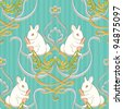 Seamless vector pattern Easter background - stock vector