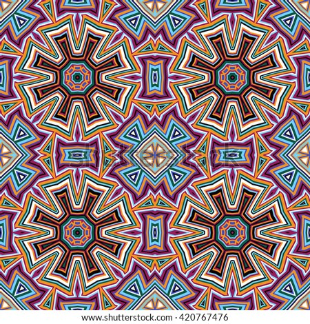 Seamless  vector pattern. Geometric background, vector illustration Vector seamless pattern tribal ethnic ornament, abstract geometric background illustration - stock vector