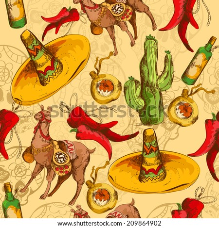 Seamless vector pattern mexico