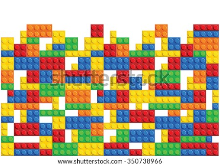 seamless vector pattern of plastic parts - stock vector