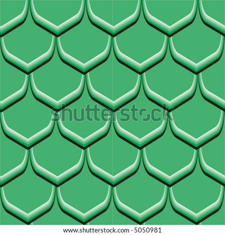 Seamless vector pattern (scales of snake, dragon, ets) - stock vector