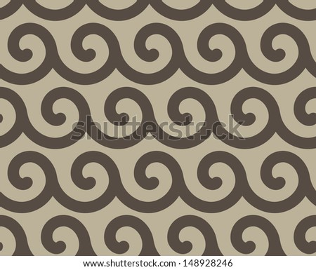 Seamless vector pattern with dark waves - stock vector