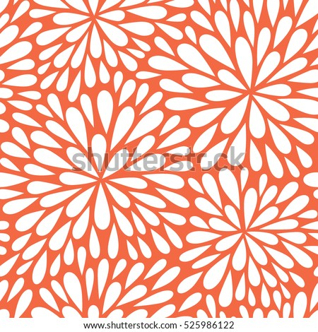 Seamless vector pattern with flowers. Abstract geometric background. Vector illustration with fireworks. Christmas background.