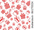 Seamless vector pattern with gift boxes EPS8 - stock photo