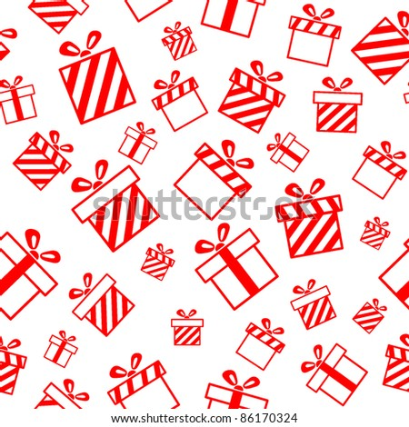 Seamless vector pattern with gift boxes EPS8 - stock vector