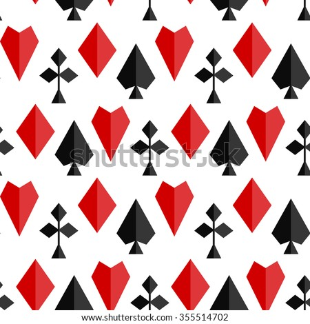 Seamless vector pattern with playing card suits