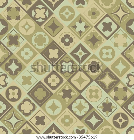 seamless vector patterns - stock vector