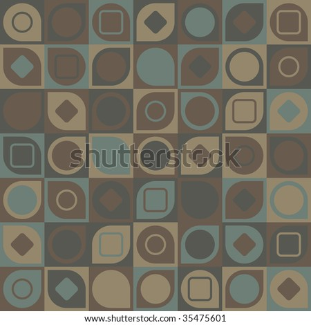 seamless vector patterns in soft browns - stock vector