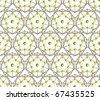 Seamless vector polygon pentagon background - stock vector