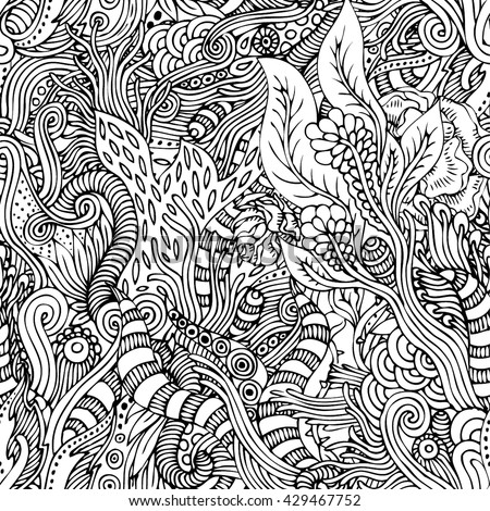 Seamless vector psychedelic pattern