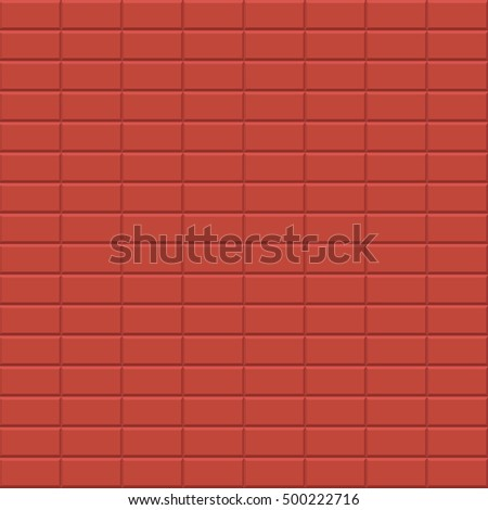 Seamless vector red brick wall - tiled pattern for continuous replicate.