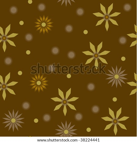 Seamless vector retro pattern with flowers