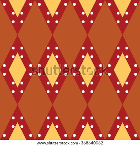 Seamless vector retro squares background in brown colors - stock vector