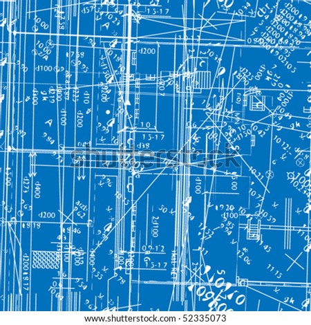 seamless vector simulating engineering blueprint. Filled with solid colors only. - stock vector