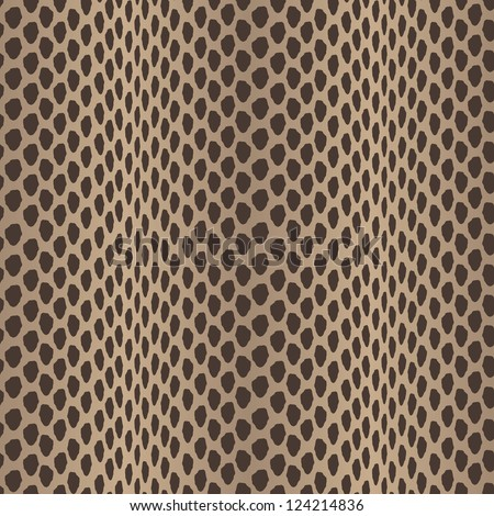 Seamless vector structured snake skin in black and brown colors - stock vector