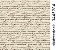 Seamless vector texture based on manuscript Leo Tolstoy - stock photo