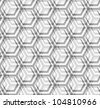 Seamless vector texture - the intersection of gray hexagons - stock vector