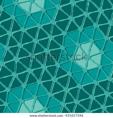 Seamless vector texture with triangle tiles - stock vector