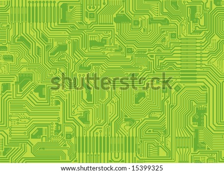 Seamless vector tiling texture of a circuit board. - stock vector