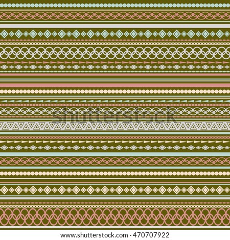 Seamless vector tribal texture pattern. Vector stripes pattern. Vintage ethnic seamless backdrop. Light brown, pink and beige colors.