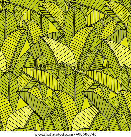 Seamless vector tropical leaf pattern