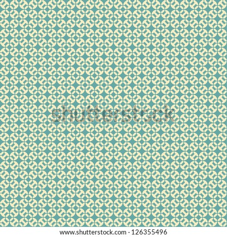 Seamless vector vintage geometric pattern background - stock vector