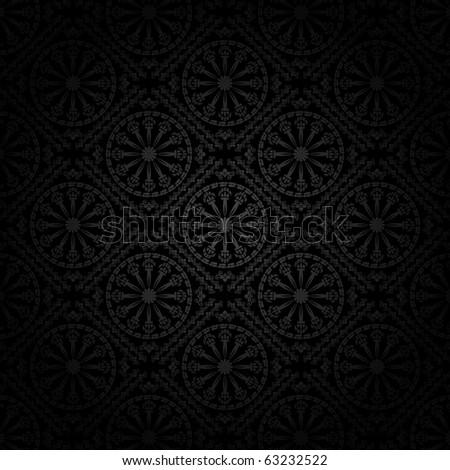 Seamless vector wallpaper - stock vector