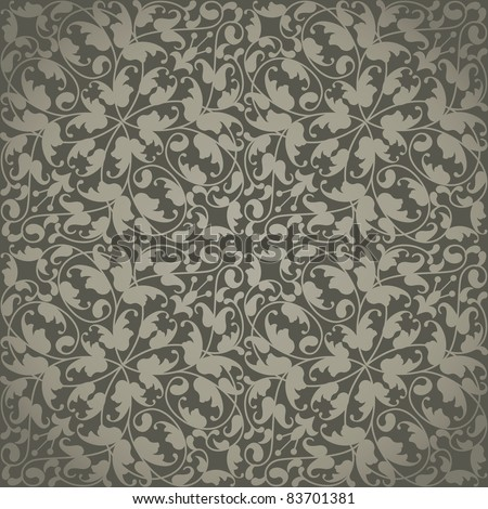Seamless vector wallpaper or background,floral texture - stock vector