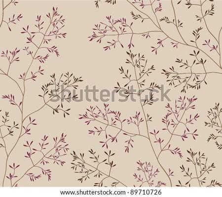 seamless vegetation background - stock vector