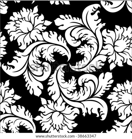 seamless victorian background - stock vector