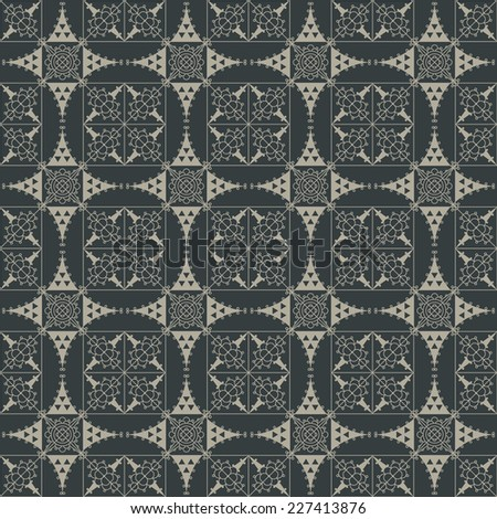 Seamless vintage background. Wallpaper, background, repeating pattern  - stock vector