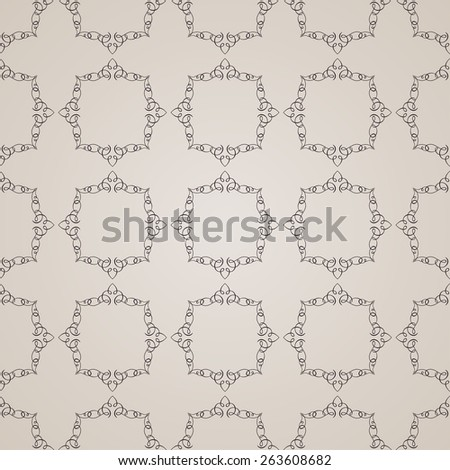 Seamless vintage backgrounds. Calligraphic vector ornament pattern wallpaper - stock vector