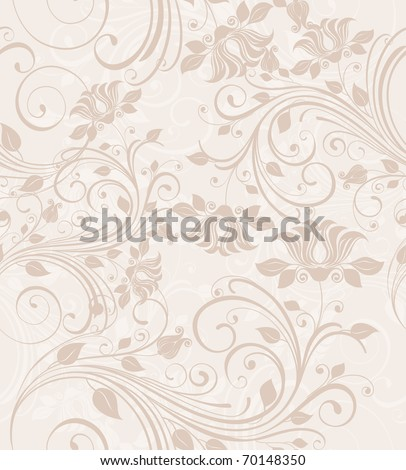 Seamless vintage floral background - stock vector