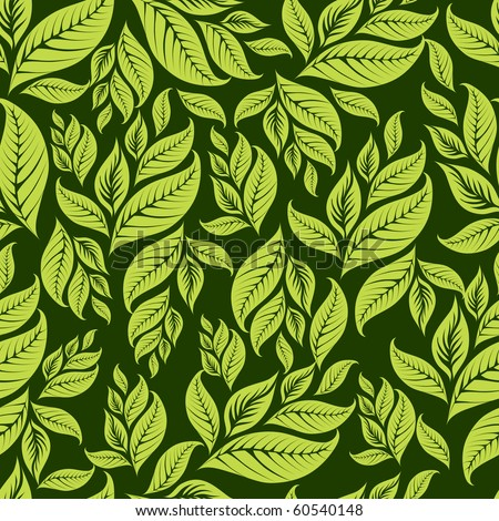 "Seamless vintage floral pattern with leafs (From my big ""Seamless collection"")"