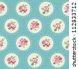 Seamless Vintage Flower Background - for design and scrapbook - in vector - stock photo