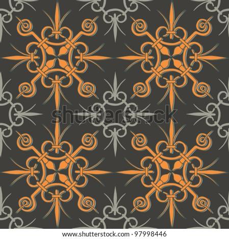 Seamless vintage geometric background - stock vector