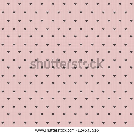 Seamless vintage heart pattern background - stock vector