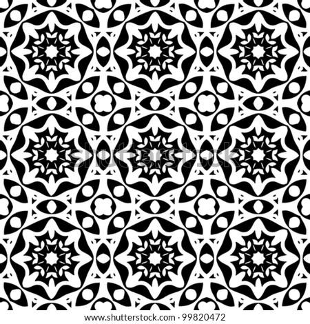 Seamless vintage ornament pattern background vector illustration - stock vector