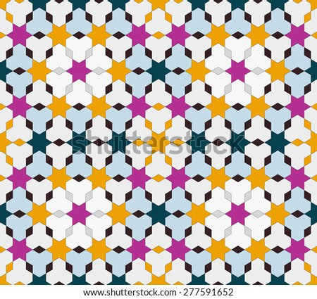 Seamless vintage pattern. Ethnic vector textured background for your design - stock vector