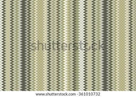 Seamless vintage pattern of thin zigzag (chevron) on grange paper - stock vector