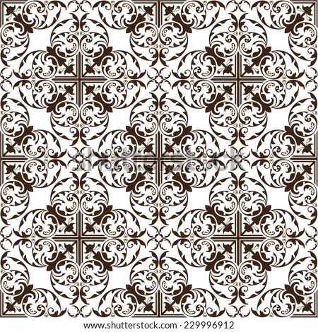 Seamless vintage pattern on white - stock vector