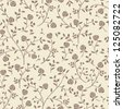 Seamless vintage rose pattern on paper texture. Vintage wallpaper - stock vector