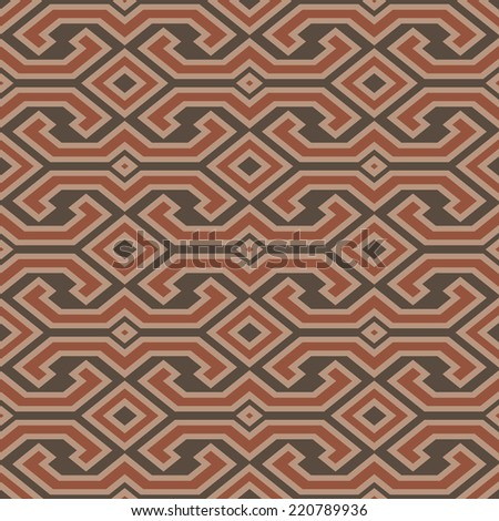 Seamless vintage Toraja color pattern. Ethnic vector textured background from Sulawesi island, Indonesia. - stock vector