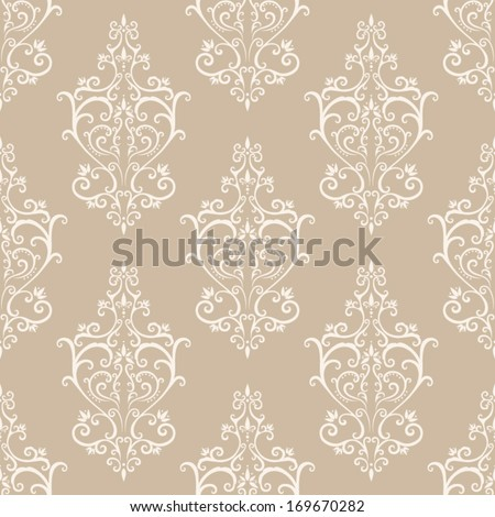 Seamless vintage vector pattern - stock vector