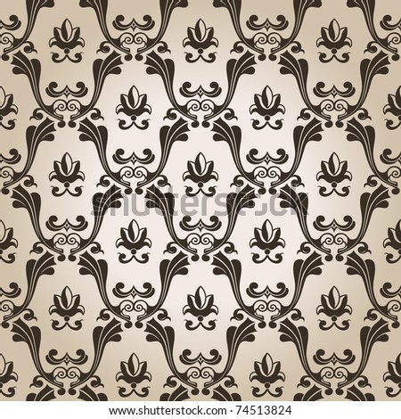 Seamless vintage wallpaper background old Design. Vector illustration - stock vector
