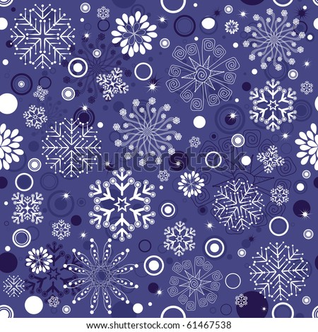 Seamless violet and white christmas pattern (vector) - stock vector